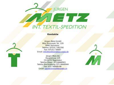 Metz Jürgen Int. Textilspedition GmbH