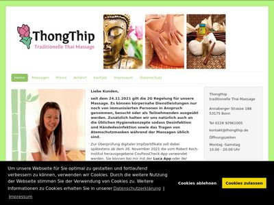 Thongthip traditionelle Thaimassage