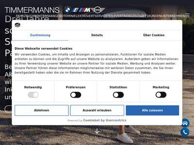 BMW Vertragshändler Autohaus Timmerm