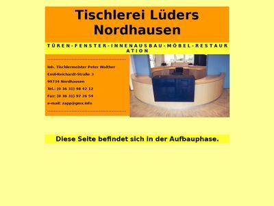 Tischlerei Lüders Inh. Peter Walter