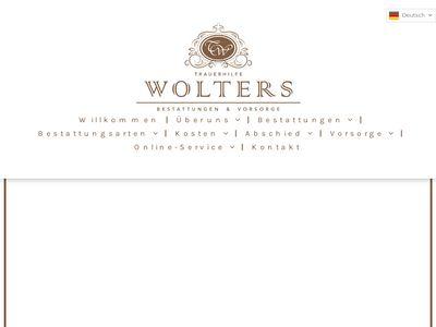 Trauerhilfe Wolters - Bestattungen & Vorsorge