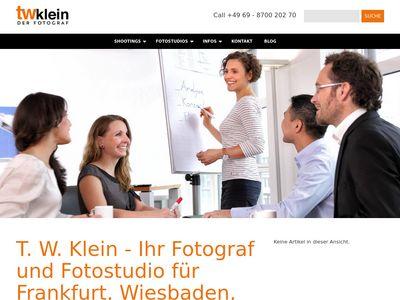 T. W. Klein - Der Fotograf. Das Fotostudio.