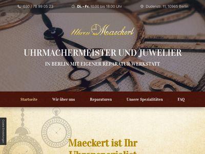 Uhren-Maeckert Uhrmachermeister