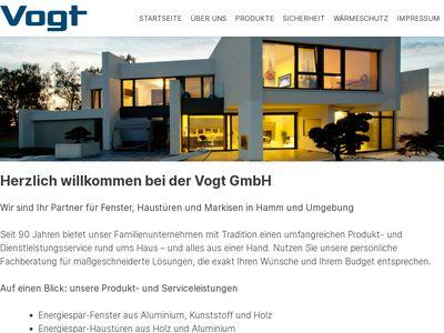 Vogt GmbH Fenster - Haustüren - Markisen