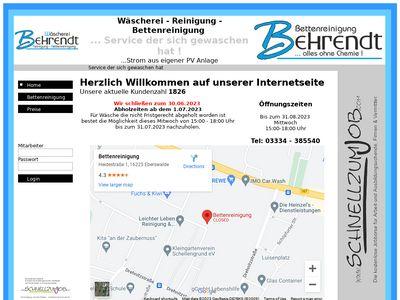 Bettenreinigung/ Wäscherei Behrendt