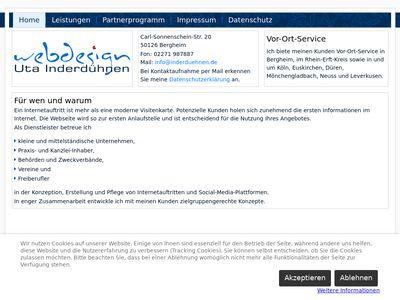 Webdesign Uta Inderdühnen