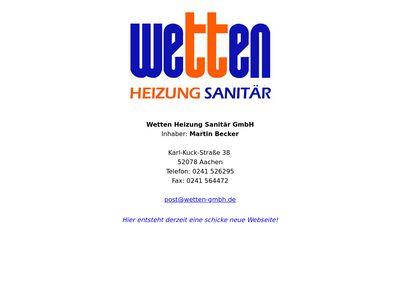 Wetten Heizung Sanitär GmbH