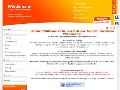 Wiedemann Paul-Georg Sanitär und Heizung