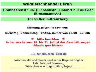 Wildfleischhandel Berlin