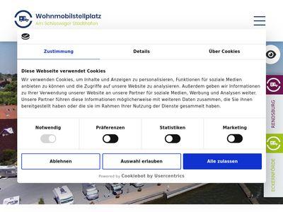 Wohnmobilstellplatz am Hafen Schleswig