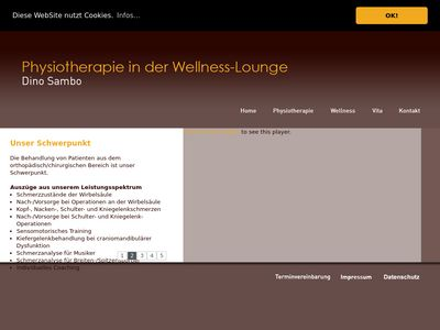 Physiotherapie in der Wellness-Lounge