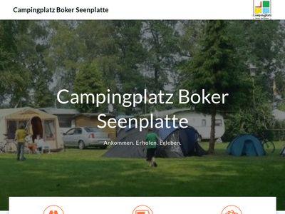 Campingplatz Boker Seenplatte