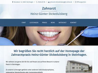 Heinz-Günter Dickeduisberg Zahnarzt