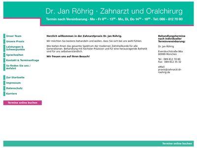 Dr.med.dent. Jan Röhrig Zahnarzt