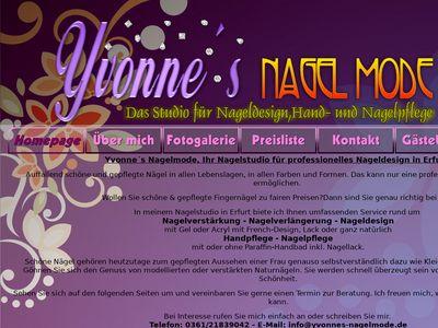 Yvonne's Nagelmode - Ihr Nagelstudio in Erfurt