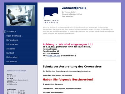 Dr.med.dent. Thomas Seifert Zahnarzt