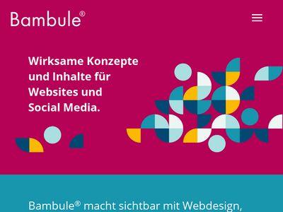Bambule Webdesign