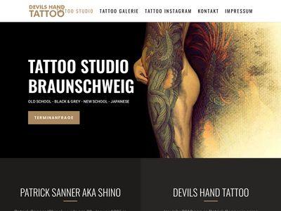 Devils Hand Tattoo Braunschweig