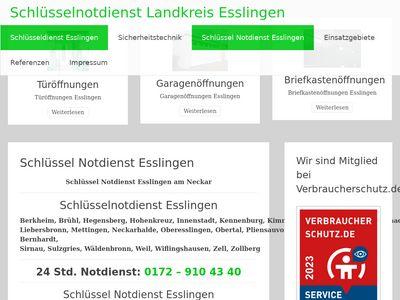 Schlüsseldienst Landkreis Esslingen