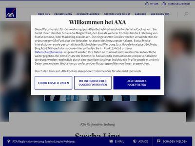 AXA Versicherung Sascha Ling & Dieter K