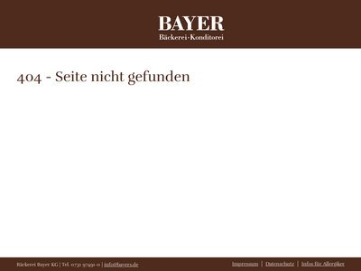 BAYER - Bäckerei & Konditorei