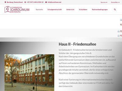 Gymnasium Carolinum Bernburg