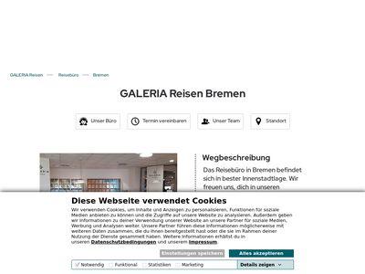 GALERIA Reisen Bremen Sebaldsbrueck