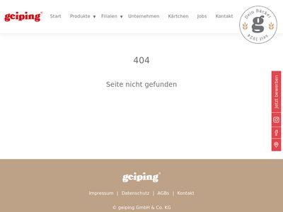Geiping Wilhelm GmbH & Co. KG Bäckerei