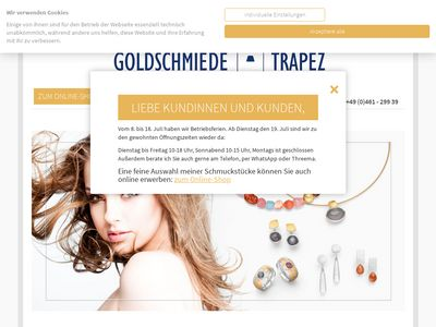 Goldschmiede Trapez Birgit Johannsen