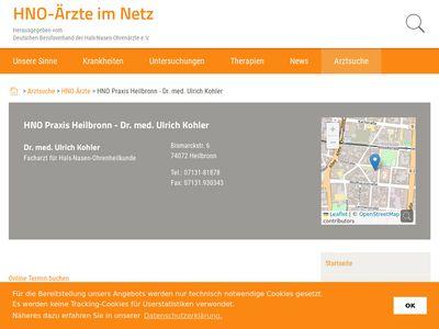 Kohler Ulrich Dr.med. Hals- Nasen- Ohrenarzt
