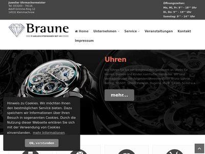 Uhrmachermeister Thomas Braune