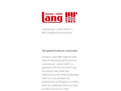 Lang heizung + sanitär GmbH
