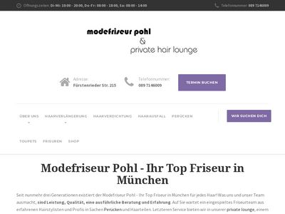 Modefriseur pohl and private hair lounge