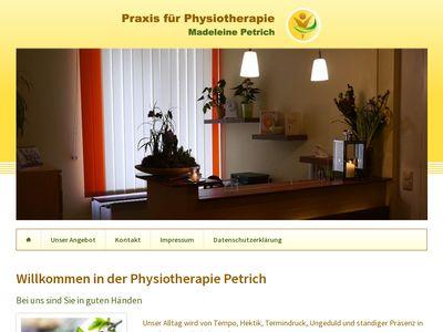 Madeleine Petrich Praxis für Physiotherapie