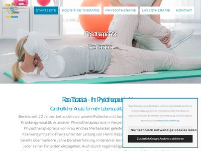 Reza Tabatabai, Physiotherapie-Praxis