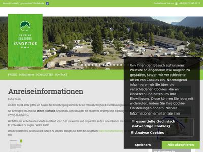 Camping Erlebnis Zugspitze