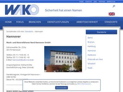Wach- und Kontrolldienst Nord GmbH-WAKO Nord