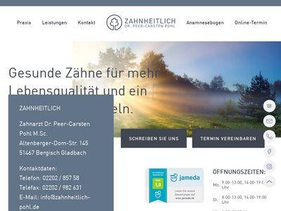 Zahnarztpraxis Dr. Pohl - Dr. med. dent. Peer-Carsten Pohl