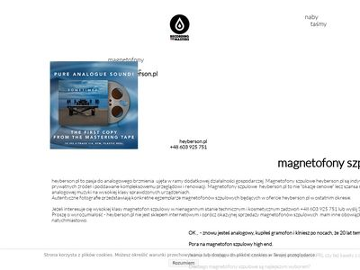 Magnetofon szpulowy