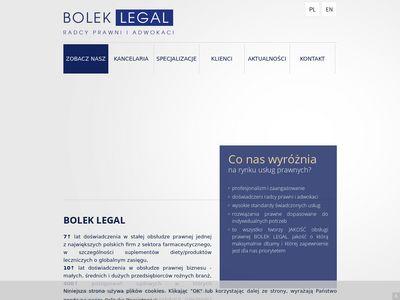 Boleklegal.pl – kancelaria radców prawnych z Rzeszowa