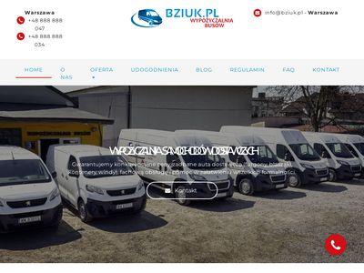 Wynajem samochodów dostawczych Warszawa - Bziuk