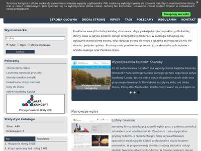 Bezpłatny katalog - e-reklama.waw.pl