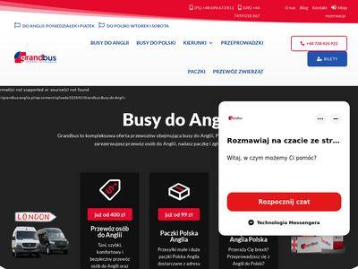 Busy z Polski do Anglii - Grandbus busy do Anglii