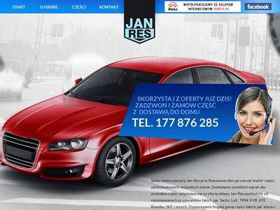 Jan-Res.pl Rzeszów – części samochodowe