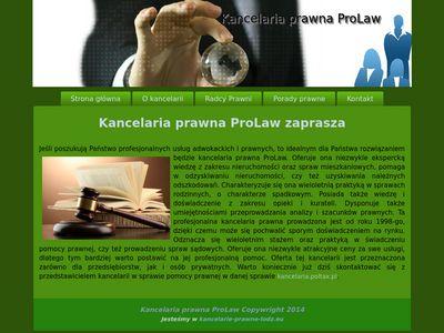 Kancelaria ProLaw – wsparcie prawne