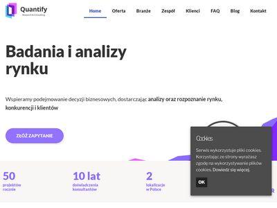 Analizy i badania rynku od Quantify