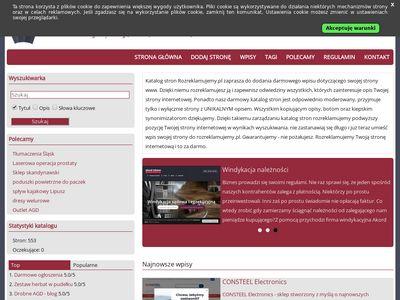 Darmowy katalog stron internetowych - rozreklamujemy.pl