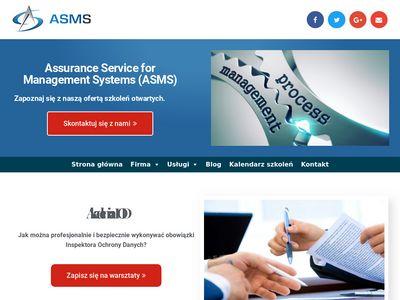 ASMS Certyfikacja Systemów Zarządzania, Szkolenia