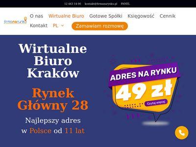 Wirtualne Biuro Kraków - Adresy firm na Rynku Głównym