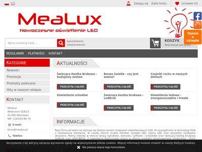 MeaLux - Sklep internetowy z oświetleniem LED
